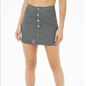FOREVER21 Houndstooth Corduroy Mini